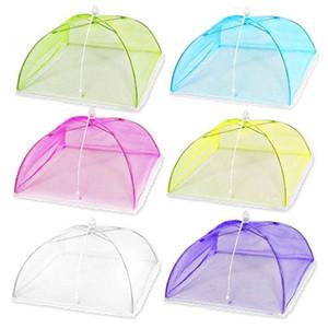 Pop-up Mesh Ekran Gıda Kapak Çadır Şemsiye Gıda Kapak Net Dış Mekanlar için Ekran Çadırlar Karşıtı Fly Sivrisinek Meal Kapak Araçlar Pişirme