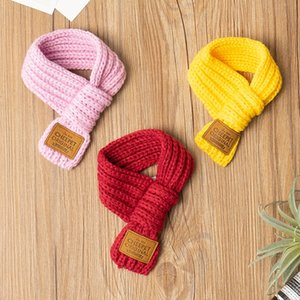 Handmade Christmas Dog Neck Scarf Winter Knit Collar Accessorries Little Cat Small Animal Grooming Chihuahua Yorkie Pet Goods