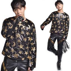 Мужчины сценический костюм блесток ночной клуб рейв одежда DJ DS GOGO Восточной производительности одежда хип-хоп танцы кисточкой брюки DNV10473