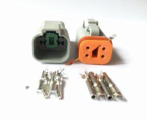 20 Ayar 4 Pin Kadın Ve Erkek Su geçirmez Elektrik Kablo Bağlantısı Fiş Mühür Boot Adaptör DT06-4S DT04-4P Küçült Enhanced FREESHIPPING