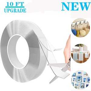 New Multipurpose Nano Grip Tape Reusable Removable Washable Double Sided Sticky Strips Seamless Traceless Tape Adhesive Kitchen Holder 2016