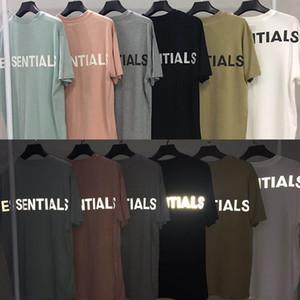 FOG Essentials 3M camiseta reflectante de gran tamaño de calidad superior FEAR OF GOD camisetas de algodón para hombres mujeres camiseta Casual Hip Hop Skateboard Streetwear