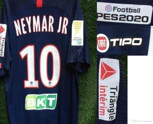 2020 Copa de la Liga Mbappe francés Liga Copa Neymar Jr Icardi CAVANI Partido Worn Edición jugador de fútbol maillot Patch insignia