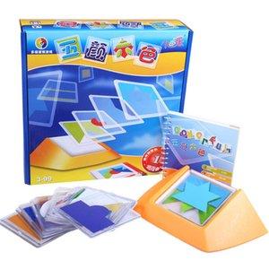 100 تحدي لون رمز لغز ألعاب ال Tangram بانوراما مجلس لغز لعبة الأطفال أطفال تطوير المنطق المكاني مهارات التفكير لعبة CX200605