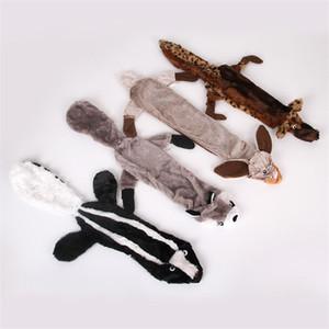 Plush Pet Dog Toys Modelagem de Animais Brinquedo Molar Esquilo Lobo Coelho Leão Personagem Plushes Playthings Nova Chegada 9 md L1