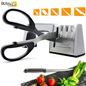 سكين مبراة 4 المرحلة المهنية مطبخ شحذ الحجر المقص مطحنة سكاكين التنغستن الماس أداة المشحذ السيراميك