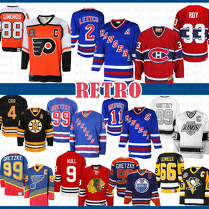 99 Brian Leetch New York Rangers Mark Messier Wayne Gretzky Montreal Canadiens Patrick Roy 88 Eric Lindros Philadelphia Flyers Hockey Jersey