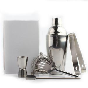 5 Pz / set di bicchieri da vino Shaker Cup in acciaio inox Cocktail Shaker Filtro Cannucce Bar Whisky Flask Accessori Bar Bottiglie di vino BH1670 CY