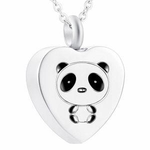 Dolgu Kitleri ile Ashes için külleri Urn Takı için Kadınlar Kalp Urn gerdanlığı Sevimli Panda Ölü Yakma kolye