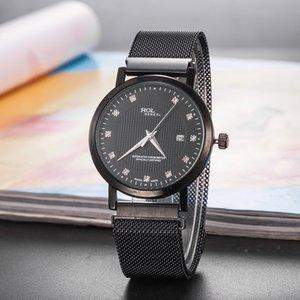 Herrenuhr Mode Einfache GMT Magnetic Herrenwicklungs-Uhr Luxus