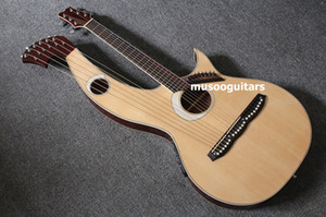 6 6 8 문자열 음향 전기 더블 넥 기타 하프 기타 가방