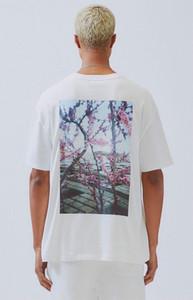 TANRI ESSENTIALS Çiçek Baskı Moda tişört High Street erkekler kadınlara Casual Kazak Sokak tee en kaliteli OF Yeni sıcak satış 19SS SİS KORKUSU