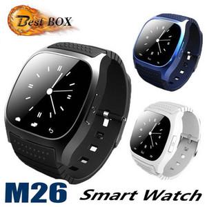M26 smartwatch Wirelss Bluetooth Akıllı Seyretmek Telefon Bilezik Kamera Uzaktan Kumanda IOS Android için Anti-kayıp alarm Barometre V8 A1 izle DHL