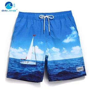 Gailang Yaz Kurulu Şort Gevşek Mayo Erkekler Yüzme Sandıklar Astar Örgü Ter Seksi Mayolar Erkek Bermudalar Plaj Sörf Praia J190715