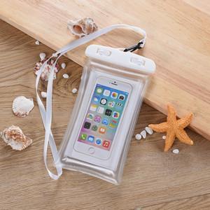Airbag flutuante Waterproof Bag Mobile Phone Pouch Saco da natação Touchscreen Surfing Mergulho Caso Hangbag Para Xiaomi Huawei Companheiro