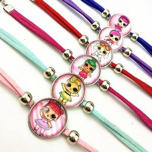 Jiangzimei 24pcs 2020 nuovo disegno del fumetto bambola 20mm vetro Cabochon bracciali fascino braccialetto per le ragazze regalo Festa di compleanno