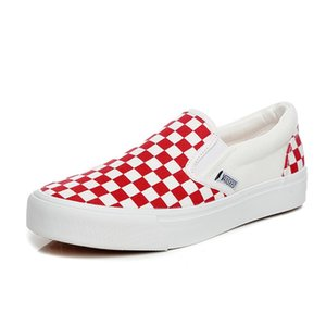 2018 new spring and autumn men's shoes fashion casual canvas shoes low to help breathable tide lattice