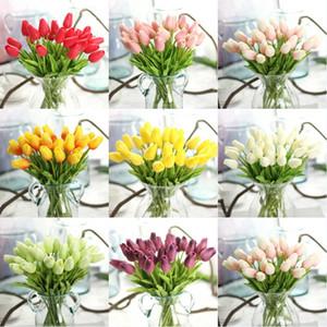 PU del fiore dei tulipani Tulip Flower Mini tocco reale artificiale Tulips nozze Albergo del partito della casa Fiori decorativi