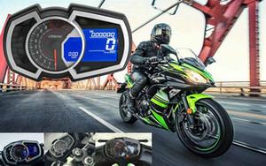 오토바이 일반 액정 미터 속도 회전 속도 물 온도와 닌자 650 단일 실린더에 적합한 오일 게이지