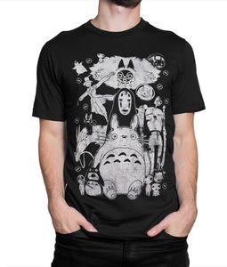 Studio Ghibli Filmes vintage camisetas Totoro Spirited Away Mononoke Miyazaki Tee