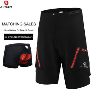 X-Tiger Men MTB Cycling Shorts With Coolmax 5D Gel Padded Cycling Underwear Pro Mountain Bike Loose Outdoor Downhill Shorts