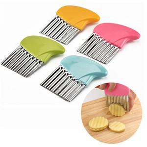 Saluto patata Fette piega patate fritte Insalata ondulato di taglio della patata tagliata affettatrice Cucina gadget e accessori
