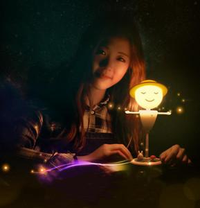 Новый странный пугало музыка свет светодиодный ночник спальня прикроватная лампа зарядки зарядки