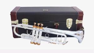 Bach LT180S-37Trumpet auténtico doble plateado bemol trompeta profesional superior de los instrumentos musicales de latón Bugle Bb Trumpete GRATIS
