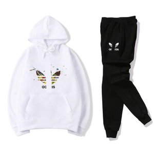 spring and autumn fashion new men's sportswear 2 sets of solid color men's jacket sportswear hooded hoodie suit
