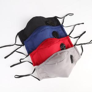 Mode-Design-Gesichtsmaske Anti-Staub Earloop mit Atemventil Einstellbare Wiederverwendbare Waschbar Mundmasken Antistaub-Schutzmasken MK05