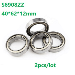 2pcs lot S6908ZZ S6908 ZZ Stainless Steel bearing 40*62*12mm Thin section Stainless Steel Deep Groove Ball Bearing 40x62x12mm