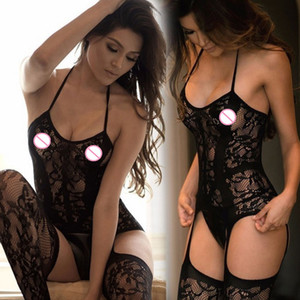 Sexy Lingerie Hot Women's Sexy Hosiery Black Fishnet Stockings Plus Size Hollot Out Mesh Pantyhose Open Crotch Tights