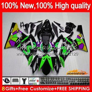 Body OEM vert Movistar YAMAHA YZF R 6 600 YZF 2006 YZF600 2007 Cadre 61NO.57 YZF R6 YZF600 06-07 YZFR6 600CC YZFR6 06 07 Carénage Kit