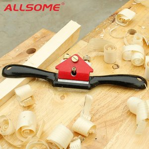 Allsome 9 Inch Adjustable Woodcraft Metal Blade Spoke Shave Plane Manual Wood Working Hand Tool Saw Blade Gray Iron Manganese