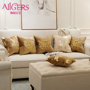 Avigers 자수 벨벳 쿠션 커버 럭셔리 유럽 베개 커버 베개 기하학 홈 장식 소파 의자 베개 T200601를 던져