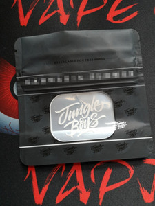 20pcs selva Meninos Cheiro Bags prova Jungleboys Package Ziplock Mylar preto Bolsas Só empacotar Zipper Stand Up Pouch seco Herb Flowers