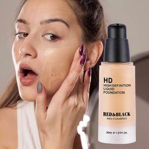 Red&black Hd High Definition Liquid Foundation Primer Concealer Invisible Full Coverage Make Up Concealer Base Makeup Cosmetic