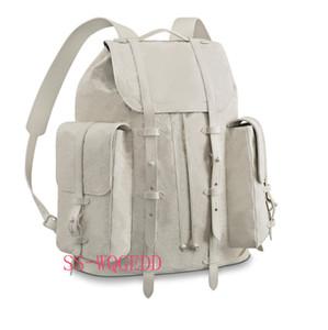 Новый топ дизайнер рюкзак m53286 одиночный прозрачный белый кожаный рюкзак книга одного Jean сумки спорта рюкзак скалолазание пляжная сумка