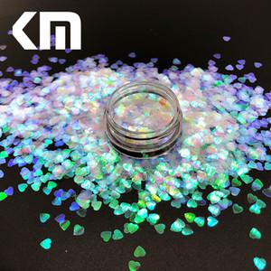 100g Holographische Laser Farbe 3mm Herzform Chunky Glitter Glänzende Handwerk Regenbogen Pailletten Flakes Glitter Für Nägel Kunst Dekoration