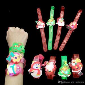 Natal dos desenhos animados relógio de flash crianças pulseira led crianças flash relógio de pulso pulseira crianças luminosa brinquedo relógios bonito dos desenhos animados presente pequeno
