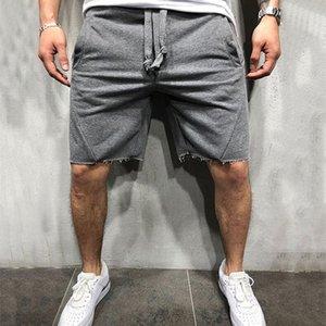 Yemekemen 2019 Verano Pantalones cortos de algodón sueltos Hombre Gimnasios Gimnasio Hasta la rodilla Pantalones de chándal Hombre Jogger Entrenamiento Crossfit Marca Pantalones cortos MX190718