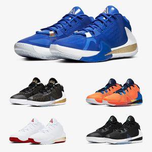 Giannis Antetokounmpo Zoom Freak 1 FIBA Grèce Orange Venir en Amérique Signature Chaussures de basketball Designer Sport Baskets Taille 40-46