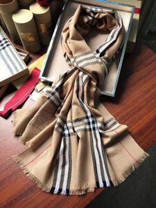220 * 70cm Check légère Horseferry Monogram Imprimer Laine Soie Cachemire Écharpe Femmes Hommes de luxe de foulard classique Check Châles Echarpes