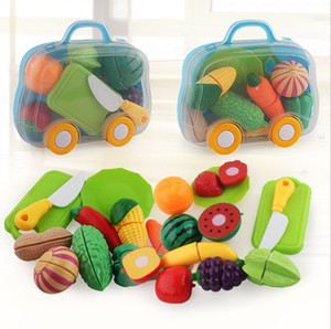 Vegetables Cut Toys Development Education Toys for Baby Color Random Plastic Fruit Vegetables Toys YH1858