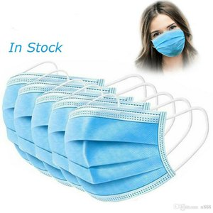 Dustproof Disposable Protective Face Mask Boxes 3 Layers Mask Facial Cover Masks Set Anti-Dust Mask with Color Box Retail Box