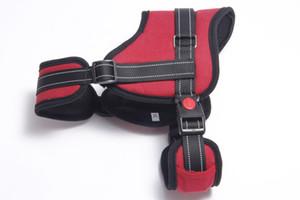 10PCS 2nd Gen Explosion-proof Pet Chest Strap Belt Adjustable Outdoor Pet Vest Chest Strap Harness Vest Harnesses Easy Control 4 Colors