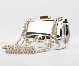 Borse da donna di marca di fascia alta fashion designer Borse da donna acrilico specchio spalla catena di pane Mini borsa da sera frizione spedizione gratuita 17 * 11