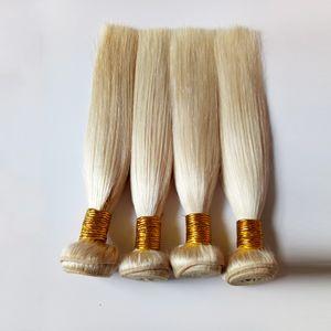European virgin Human Hair Blonde #613 Peruvian remy Hair Bundles white Unprocessed Brazilian remy Human Hair extensions can be bleached