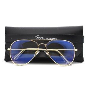 Новый Pilot кадр Компьютер очки Анти Синий свет Блокировка фильтра уменьшает напряжение Digital Eye Clear Regular Gaming Goggles очки