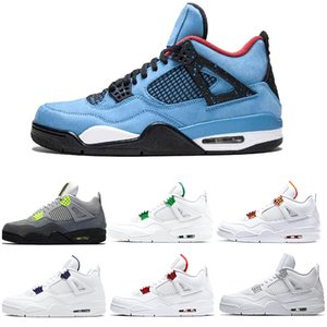 jumpman 4s Men Kids Basketball Shoes 4 What the Neon Pure Money Metallic Pack Black Cat Chaussures Mens Trainers Sport Sneaker